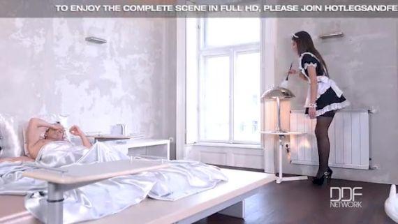 Piger leger på dansk privat sexfilm hospitalet